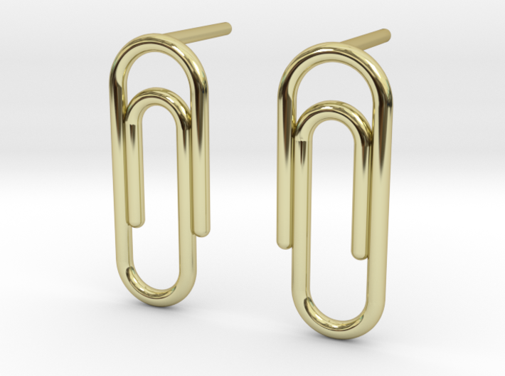 Paper Clip Stud Earrings Layers By Design