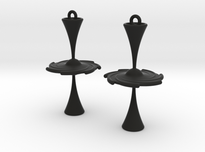 3D Printed Black Hole Earrings