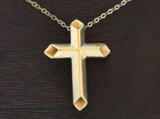 Hollow Design Cross Pendant